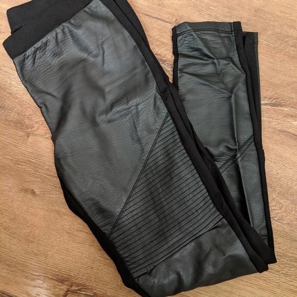 Trouve Pants - Trouve vegan leather Moto leggings small